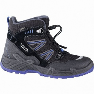 Superfit Jungen Winter Leder Gore Tex Boots schwarz, angerautes Futter, warmes Fußbett, 3741141/35