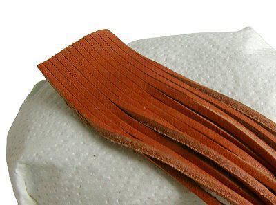 10 Stück Vierkant Lederriemen Rindleder natur am Bund, Voll-Leder, Länge 150 cm, Stärke ca. 2, 8 mm, Breite ca. 2, 8 mm