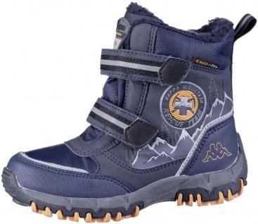 KAPPA Rescue Tex Jungen Winter Boots navy, Warmfutter, wasserdicht, windabwei...