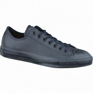 Converse CTAS Chuck Taylor All Star Core Mono Leather Damen und Herren Leder Chucks black, 1236214/37.5
