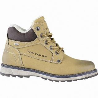 TOM TAILOR Jungen Leder Imitat Winter Tex Boots camel, 8 cm Schaft, molliges Warmfutter, warmes Fußbett, 3741154/33