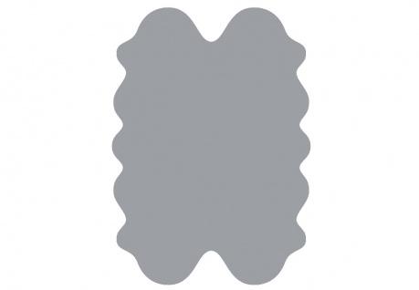 exklusive Lammfell Fellteppiche grau gefärbt, 4 Einzelfelle, waschbar, Haarlä...