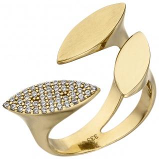 Damen Ring offen 333 Gold Gelbgold 40 Zirkonia Goldring