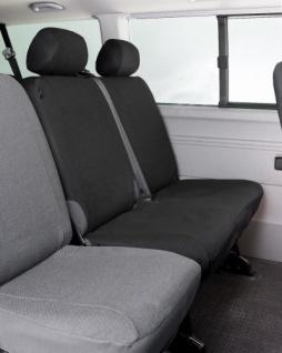 Passform Sitzbezüge Transporter VW T5, passgenauer Stoff Sitzbezug Doppelbank hinten, Bj. 04/2003-06/2015