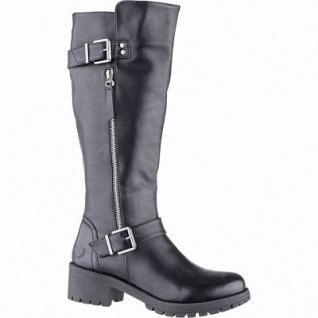 Jane Klain modische Damen Synthetik Stiefel schwarz, 34 cm Schaft, Warmfutter, warme Super Soft Einlage, 1641206/36