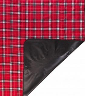 wasserdichte Reisedecke rot kariert 150x130 cm waschbar, weiches Fleece, als Picknick Decke, Strand Matte, Camping Decke