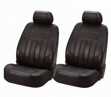Universal Echt Nappa Leder Auto Sitzbezüge schwarz, waschbar, für fast alle PKW, für Fahrersitz oder Beifahrersitz