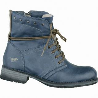 Mustang Mädchen Synthetik Winter Boots blau, molliges Warmfutter, 3733125/33