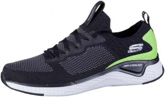 SKECHERS Solar Fuse Herren Sneakers black, Air Cooled Memory Foam Fußbett