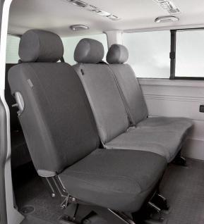 Passform Sitzbezüge Transporter VW T6, passgenauer Stoff Sitzbezug Einzelsitz...