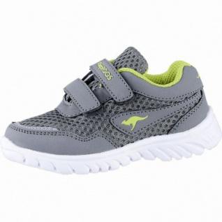 Kangaroos modische Jungen Synthetik Sneakers steel grey, Kangaroos Decksohle, Laschen-Tasche, 3040101/21