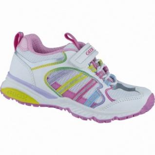 Geox modische Mädchen Synthetik Sneakers white, Geox Leder Fußbett, 3338142