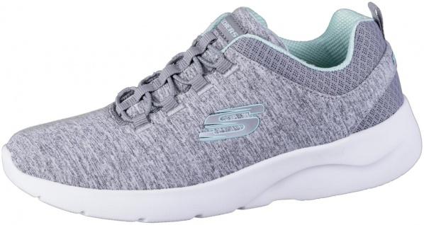 SKECHERS Dynamight 2.0 Damen Jersey Sneakers grey, Gummi Laces, Memory Foam F...