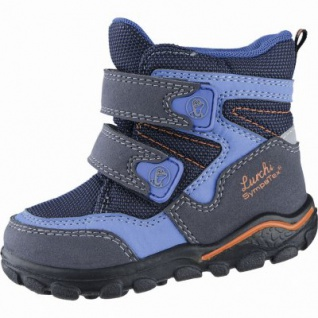 Lurchi Klausi Jungen Winter Synthetik Tex Boots atlantic, Warmfutter, Fußbett, breitere Passform, 3239105/21