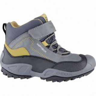 Geox coole Jungen Synthetik Winter Amphibiox Sneakers grey, angerautes Futter, Thermo Fußbett, 3739171