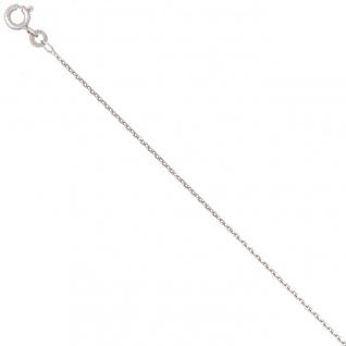 Ankerkette 585 Weißgold 1, 3 mm 38 cm Gold Kette Halskette Weißgoldkette