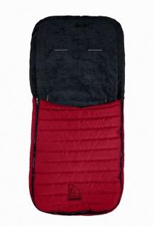 Baby Übergangs Stepp Fleece Fußsack für kühle Tage rot waschbar, für Kinderwa...