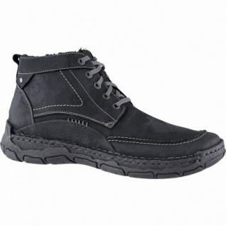 Josef Seibel Dominic 09 Herren Leder Winter Boots schwarz, 10 cm Schaft, molliges Warmfutter, warmes Fußbett, 2541158