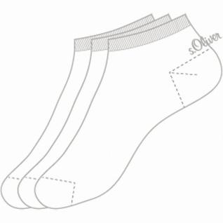 s.Oliver Classic NOS Unisex Sneaker weiß, 3er Pack Damen, Herren Sneaker Socken