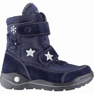 Ricosta Gloria Mädchen Winter Leder Tex Stiefel nautic, mittlere Weite, Warmfutter, angerautes Fußbett, 3741255/35