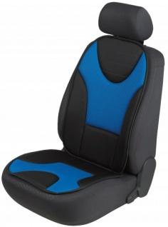 extra weicher Universal Auto Sitzaufleger Grafis blau, hohes Rückenteil, 9 mm Schaumstoff, waschbar, PKW Sitzschoner