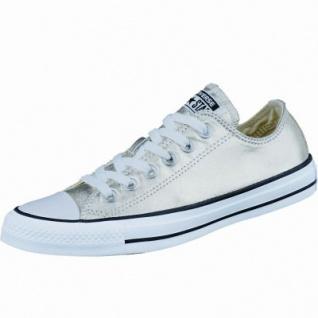 Converse CTAS Canvas Metallic coole Damen Canvas Metallic Sneaker light gold-white-black, Textilfutter, 1237132/36.5
