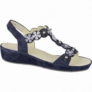 Ara Capri Highsoft modische Damen Leder Sandalen blau, weiches Fußbett, Comfort Weite G, 154211137