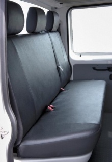 Passform Sitzbezüge VW T5, passgenauer Kunstleder Sitzbezug 3er Bank Pritsche, waschbar, Bj. 04/2003-06/2015