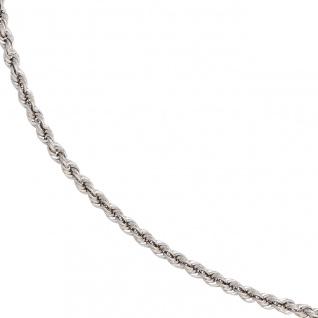 Kordelkette 585 Weißgold 3, 2 mm 45 cm Gold Kette Halskette Weißgoldkette