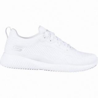 Skechers Bobs Squad coole Damen Strick Sneakers white, Skechers Memory Foam-Fußbett, 4142117/36