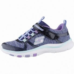 Skechers Trainer Lite coole Mädchen Jersey Sneakers navy multi, weiches Skechers Fußbett, 4042122/27