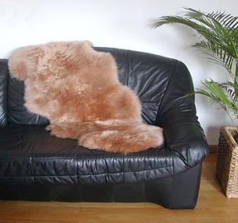 australische Doppel Lammfelle aus 1, 5 Fellen camel gefärbt, voll waschbar, ca...