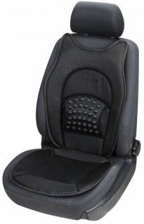 weiche Universal Auto Sitzauflage New Space schwarz, hohes Rückenteil, 36 Massagenoppen, 30 Grad waschbar, alle PKW, Sitzschoner