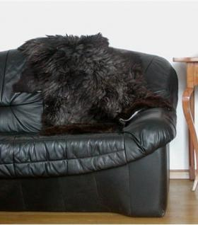 langhaariges Heidschnuckenfell braun meliert ca. 105x65 cm, Haarlänge ca. 15 cm