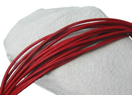10 Stück Ziegenleder Rundriemen rot, geschnitten, für Lederschmuck, Lederkett...