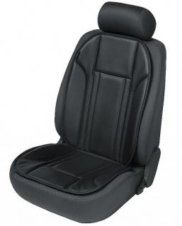 Ravenna Universal Kunstleder Auto Sitzauflage schwarz waschbar, PKW Sitzaufleger, Sitzschoner