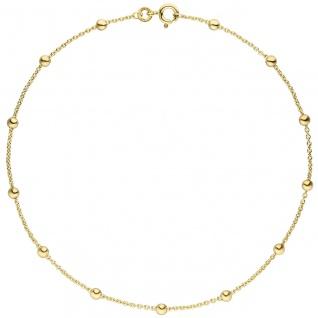 Fußkettchen Fußkette 333 Gold Gelbgold 25 cm Goldkette Karabiner