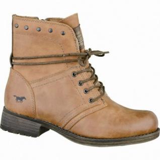 Mustang trendige Mädchen Leder-Imitat Winter Boots cognac, molliges Warmfutter, warme Decksohle, 3737115