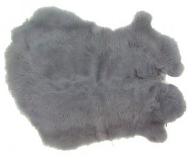 Kaninchenfelle blaugrau gefärbt, ca. 30x30 cm, Felle vom Kaninchen mit seidigem Haar