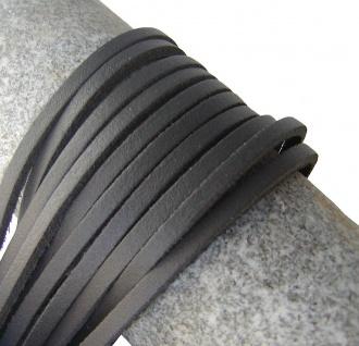 1 Paar Docksider Leder Schuhriemen grau, Länge 120 cm, Stärke ca. 2, 8 mm, Bre...