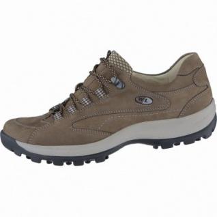 Waldläufer Holly sportliche Damen Leder Trekking Schuhe schlamm oliv, für lose Einlagen, Extra Weite H, 1338152/5.0