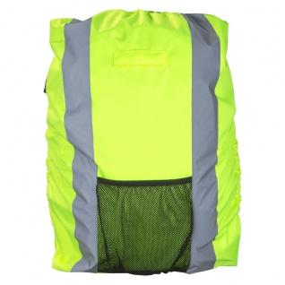 Safety Maker Rucksack Regenschutz reflektierend gelb wasserbeständig 30 Liter...