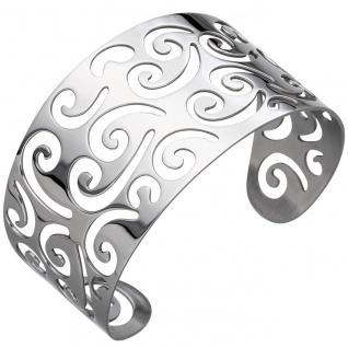 Armspange / offener Armreif aus Edelstahl Armband