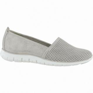 Marco Tozzi coole Damen Metallic Leder Slipper dune, gepolsterte Feel me Decksohle, 1240152/36