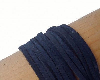 10 Stück Velourleder Rindleder Vierkantriemen blau am Bund, Länge 100 cm, Stä...
