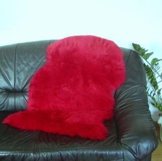 australische Lammfelle rot gefärbt waschbar, Haarlänge ca. 70 mm, ca. 100x68 cm