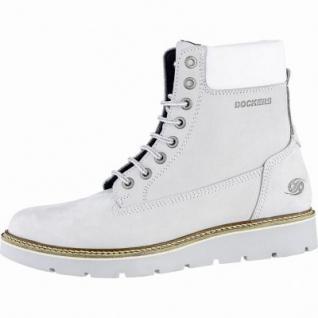 Dockers mega coole Damen Leder Boots ice, Cambrellefutter, Plateaulaufsohle, 1639356/36
