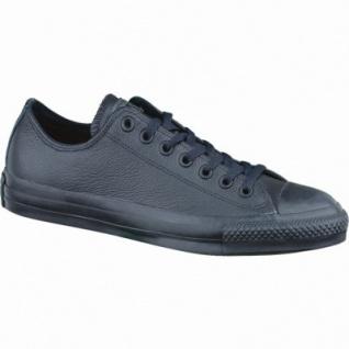 Converse CTAS Chuck Taylor All Star Core Mono Leather Damen und Herren Leder Chucks black, 1236214/37