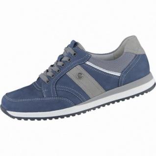 Waldläufer Hagen Herren Leder Sneakers jeans, Waldläufer Leder Fußbett, Extra Weite, 2238106