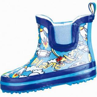 Beck Plane Jungen Gummistiefel blau aus Gummi, Baumwollfutter, Einlegesohle, flexible Laufsohle, 5032100/23